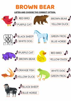 Interactive worksheet Brown Bear