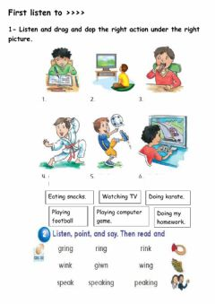 Interactive worksheet Doing