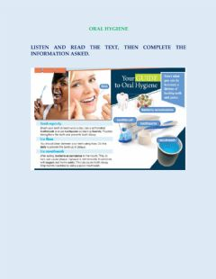 Interactive worksheet Oral health