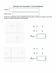 Interactive worksheet Distancia entre dos Puntos