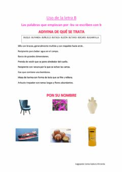 Interactive worksheet Palabras con Bu I