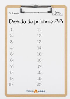 Interactive worksheet Dictado-palabras-33