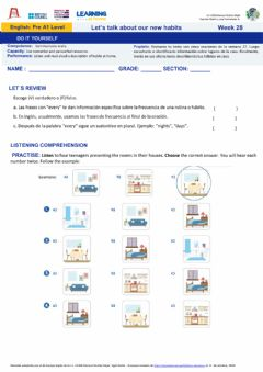 Interactive worksheet Week 28: Do it yourself Pre A1