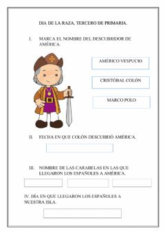 Interactive worksheet Dia de la raza