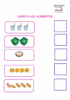 Interactive worksheet Contar alimentos