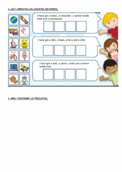 Interactive worksheet Have got and toys