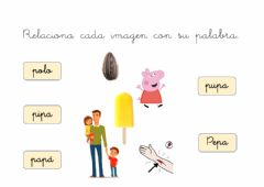 Interactive worksheet Lectura inicial letra P