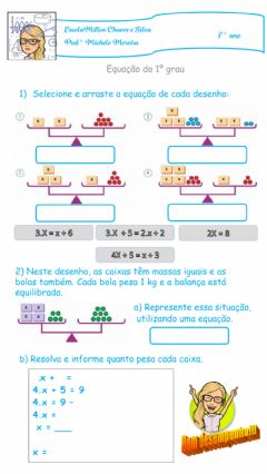 Interactive worksheet Equação 1º grau