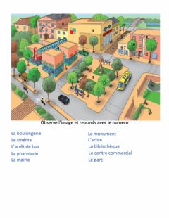 Interactive worksheet Adomania la ville