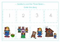 Interactive worksheet Goldilocks and the Three Bears
