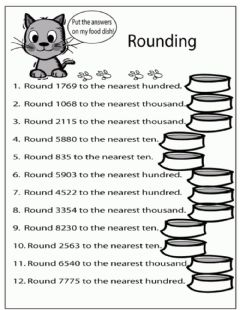 Interactive worksheet Rounding Practice