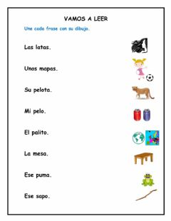 Interactive worksheet Vamos a leer