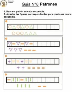 Interactive worksheet Guía N°8 Patrones
