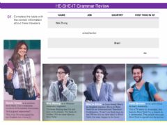 Interactive worksheet To be, he she it - Grammar Review