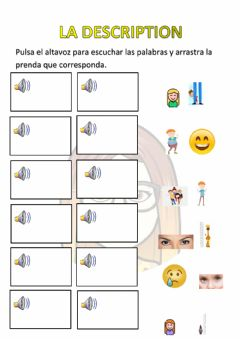 Interactive worksheet La description