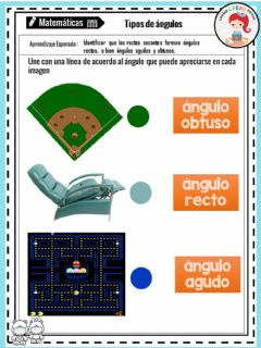 Interactive worksheet Tipos de ángulos