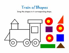 Interactive worksheet Train of Shapes