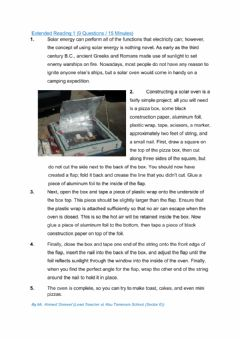Interactive worksheet Emsat Mock Exam  Part 3 Extended Reading