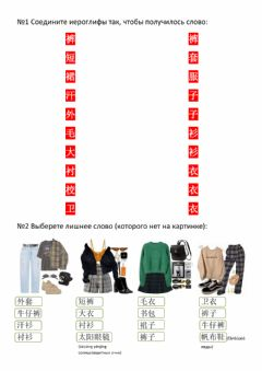 Interactive worksheet 衣服
