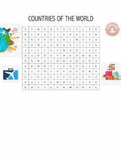 Interactive worksheet Countries of the world