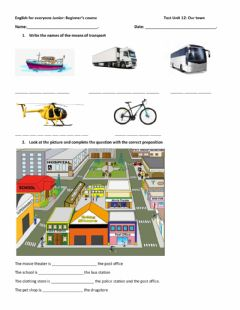 Interactive worksheet Unit 12 Out town