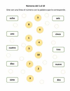 Interactive worksheet Los números hasta el 10