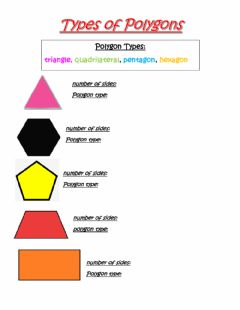 Interactive worksheet Types of polygons
