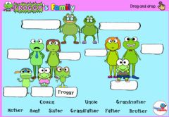 Ficha interactiva Froggy's Family (drag and drop)