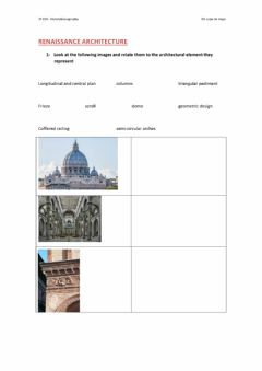 Interactive worksheet Renaissance architecture