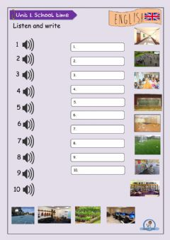 Interactive worksheet School Places