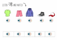 Ficha interactiva Listen and match clothes