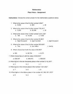 Interactive worksheet Place Value to the Billions