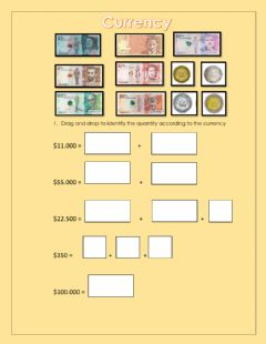 Interactive worksheet Colombian Currency