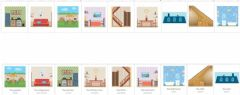 Interactive worksheet My House Matching cards