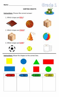Ficha interactiva Sorting Objects