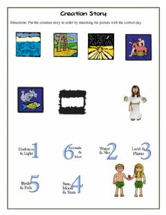 Interactive worksheet Creation Story