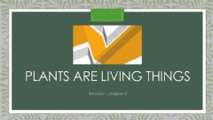 Interactive worksheet Plants are Living Things