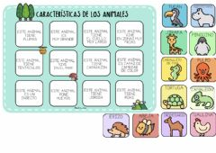 Interactive worksheet Características animales