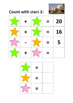 Interactive worksheet Count with stars 2