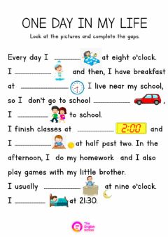 Interactive worksheet One day in my life