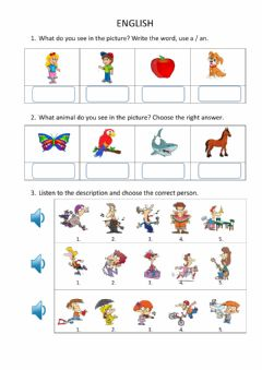 Interactive worksheet English for young learners