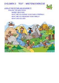 Interactive worksheet Children 3 lesson 29 test writing exercise
