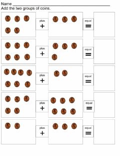 Interactive worksheet Add the pennies