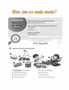 Interactive worksheet How can we make music?