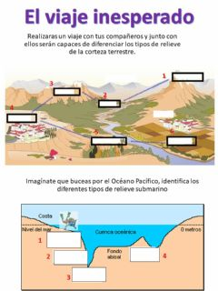 Interactive worksheet Relieve continental y oceánica