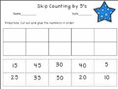 Interactive worksheet Count by 5s