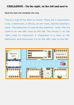 Interactive worksheet Vocabulary - On the right, left, next to