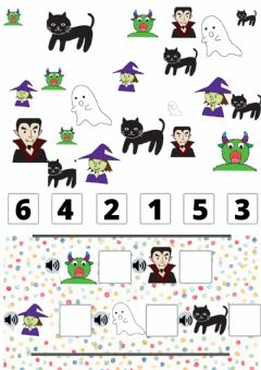 Interactive worksheet Conteo Halloween
