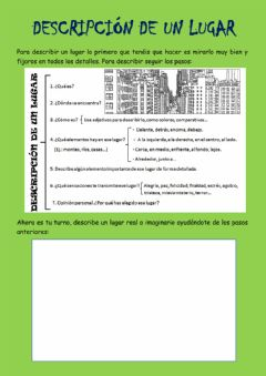 Interactive worksheet Descripcion
