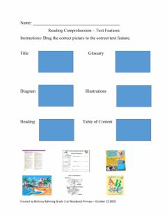 Interactive worksheet Reading Text Feature